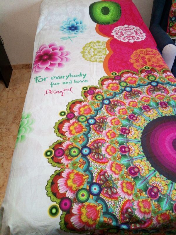 Funda Nórdica Reversible Hippie Desigual Nueva