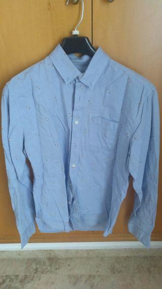 Camisa Azul Clara Hombre Talla L SPRINGFIELD