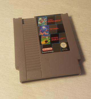 Cartucho Nintendo NES Mario+Tetris+World Cup