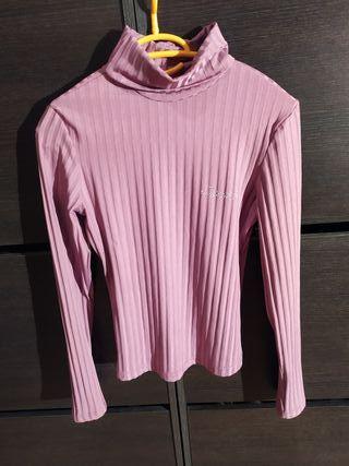 Camiseta manga larga rosa
