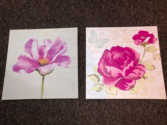 Framed flower wall art