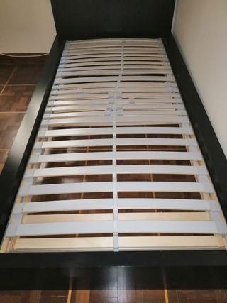 Cama articulada madera 90