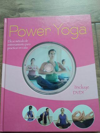 """Libro nuevo de Yoga """"Power Yoga""""+DVD"""