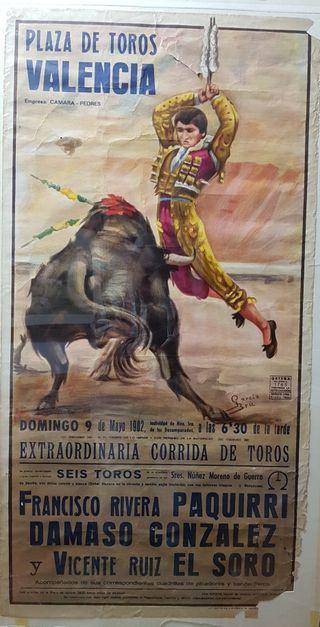 cartel de toros antiguo