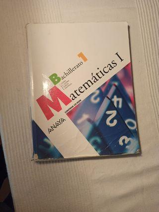 libro de matemáticas de 1°de bachillerato