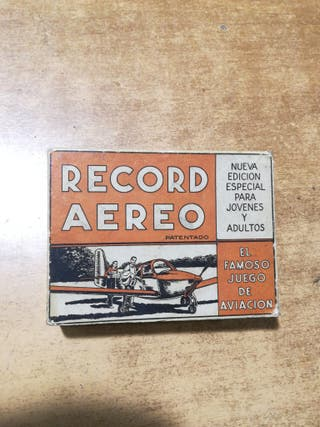 Récord aéreo juegos Crone. Juego de cartas
