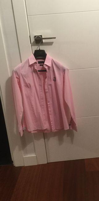 Camisa rosa marca Sir Raymond Tailor