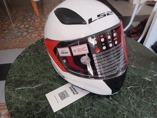 Casco moto Niño talla Junior L Blanco