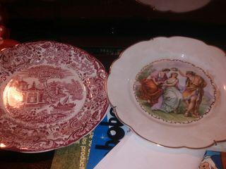 platos decorativos de porcelana