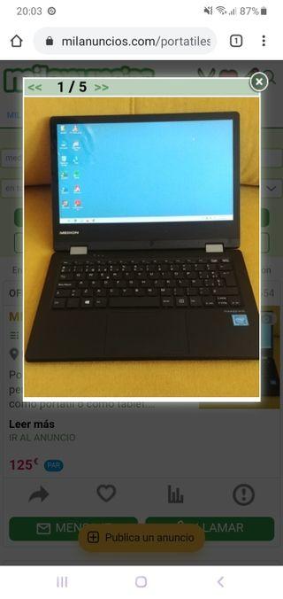 vendo portatil tablet medion