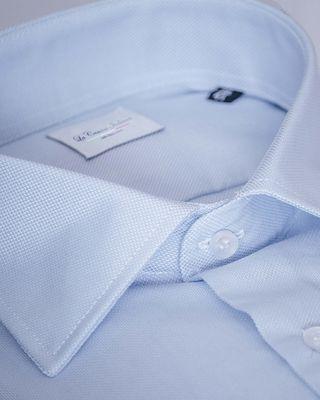 NUEVA Camisa italiana azul oxford
