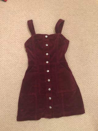 H and m burgundy dress