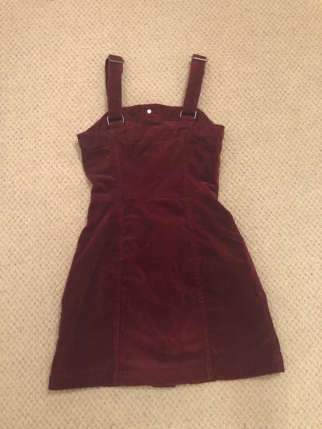 H and m burgundy dress