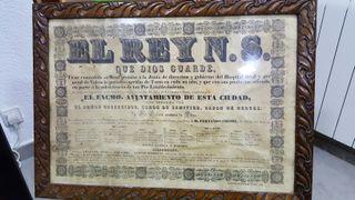 cartel toros antiguedad