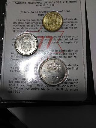 Monedas 1-25 pesetas 1977