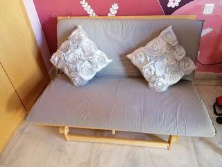 sofá cama futón madera ikea