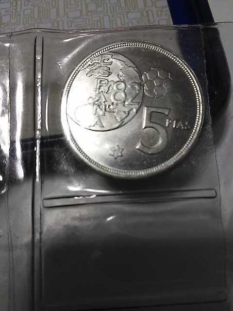 Monedas 1-100 pesetas 1982 mundial fútbol