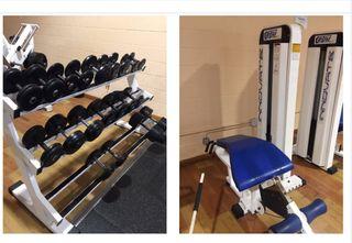 Máquinas de musculacion para gimnasio