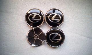 Tapabujes centro rueda Lexus negro gris 68mm.