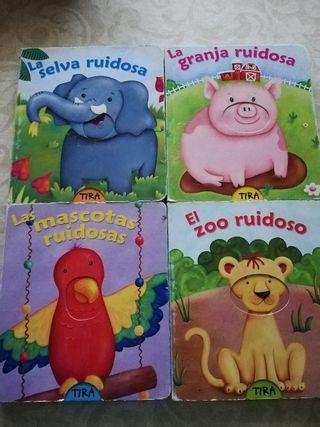 Colección 4 libros Juega con los animales