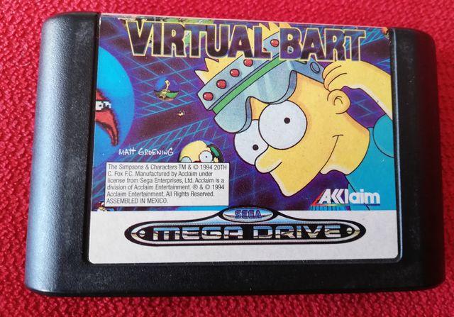 Virtual Bart Mega Drive Cartucho