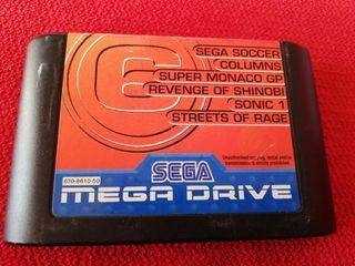 6 en 1 Mega Drive Cartucho