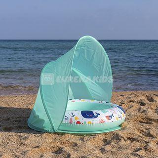 piscina con parasol bebe