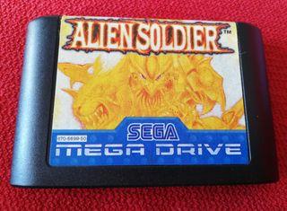 Alien Soldier Mega Drive Cartucho