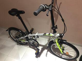 Bici plegable, urbana. Btwin Hoptown 320