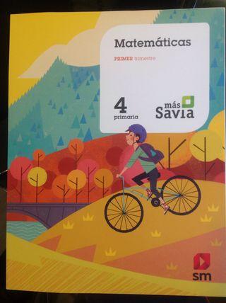 Libro de matemáticas 4 primaria, primer trimestre