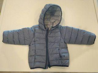 Abrigo plumífero bebé talla 18 meses