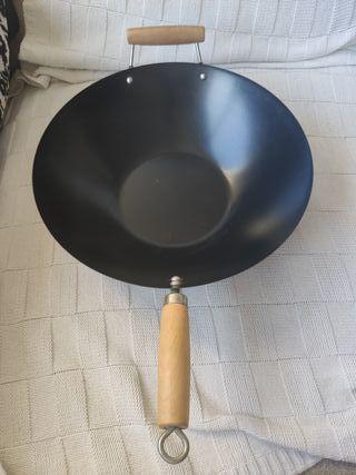 Crafond inducción 28 cm, 2 mango de profundidad cacerola con
