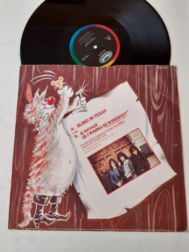 """W.a.s.p. Blind in texas vinilo Maxisingle lp 12"""""""