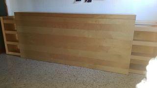 Cabecero / mueble almacenaje ( Ikea MALM)
