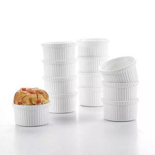 "12 2.75"" Porcelain Pudding Cups"