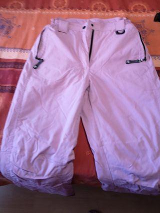 pantalón de nieve rosa, chica, talla 158-164