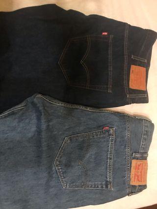 2 Pantalones Levi's W40-L32, originales. No envio