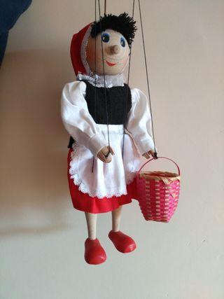 Marioneta de Caperucita roja 30cm