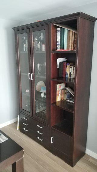 Mueble sala madera maciza