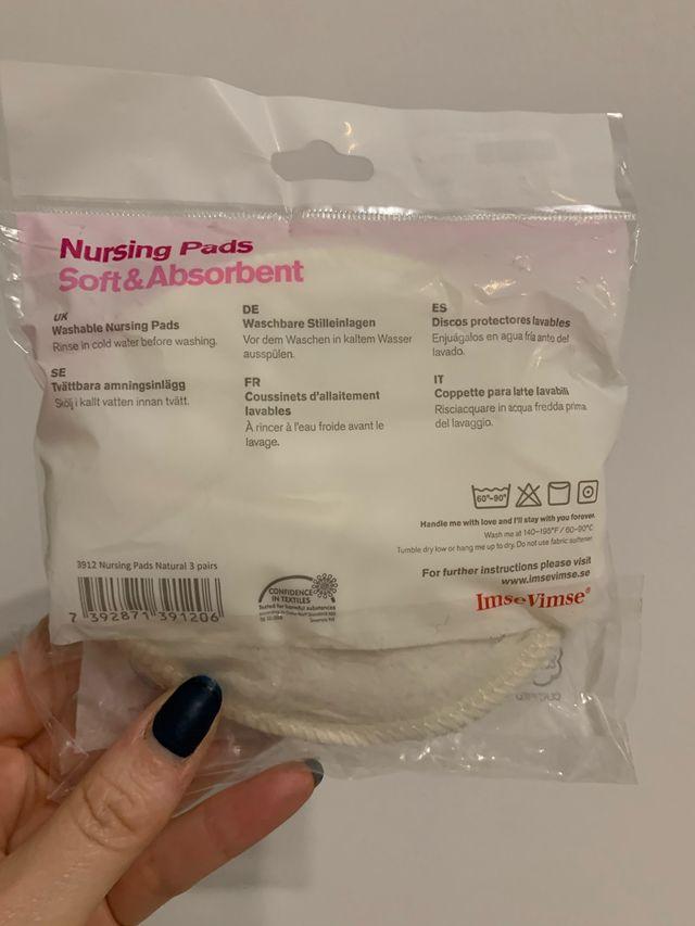 Discos lactancia lavables de algodón organico