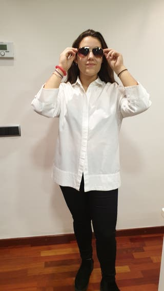 Massimo Dutti/ T M o S Camisa oversize blanca