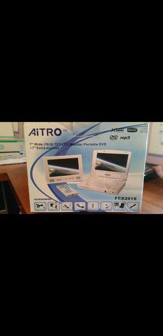 DVD portátil para coche con 2 pantallas