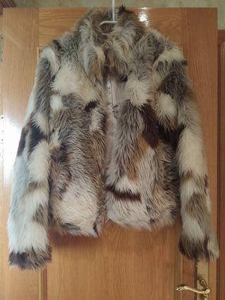 abrigo mujer piel