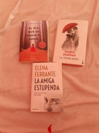 3 libros tapa blanda