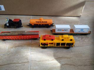 tren locomotora más vagones escala h0
