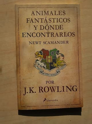 libro j.k Rowling animales fantásticos