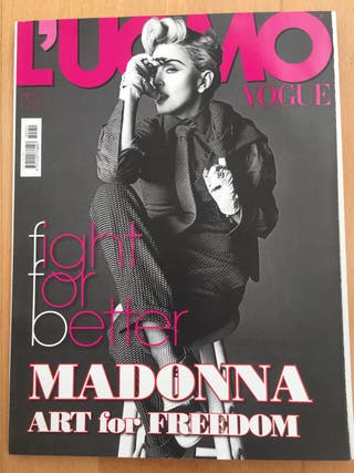 madonna revista uomo vogue magazine 2014