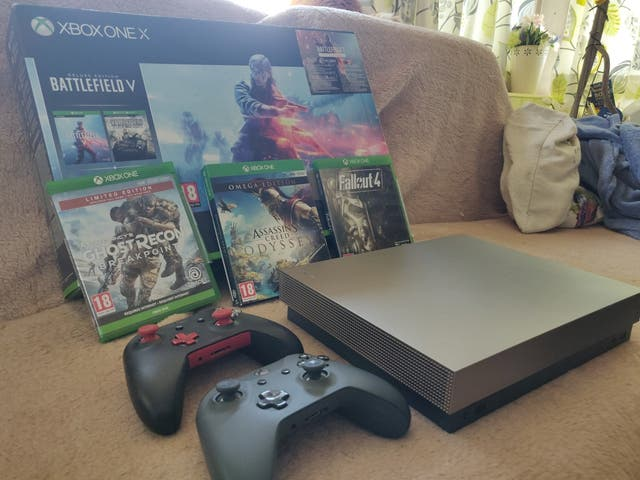 Xbox One X Gold Rush limited edition bundle