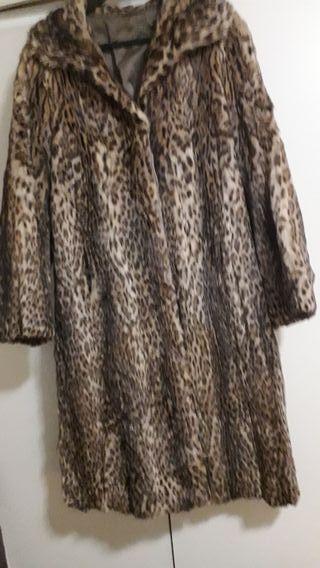 super oferta!! abrigo piel de leopardo auténtico