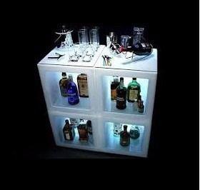 Estanteria led botellero